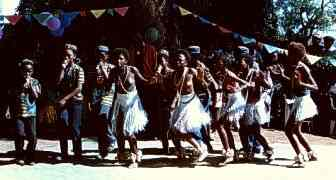 Children performing traditional Tswana dances