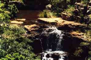 A visit to the Sterkstroom waterfall and a swim in the pool is the highlight of this hiking trail