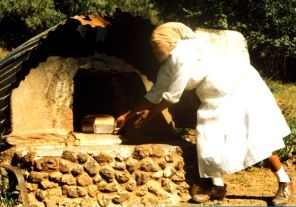 Baking bread in an oven